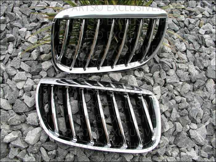Bmw e53 x5 2003 2006 grillage calandre chrome noir ebay for Chrome line exterieur