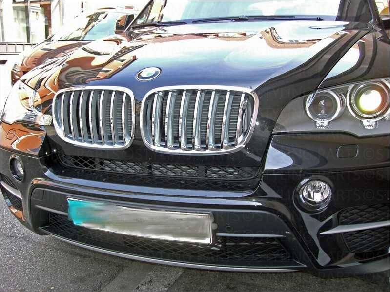 bmw x5 e70 2006 nieren grill chrom silber ebay. Black Bedroom Furniture Sets. Home Design Ideas