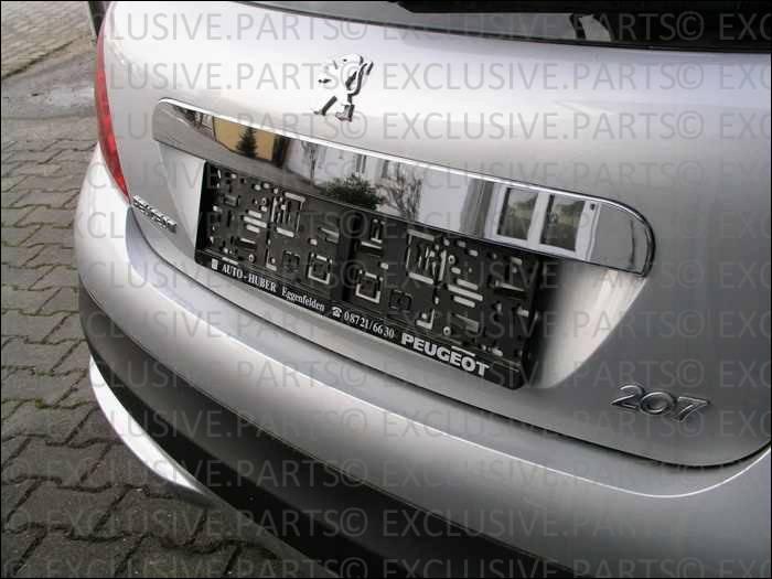 Peugeot 207 deguisement baguette bordure coffre chrome ebay for Chrome line exterieur