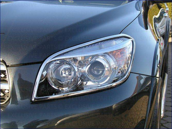 Toyota rav 4 2006 cadrage phares chromee ebay for Chrome line exterieur