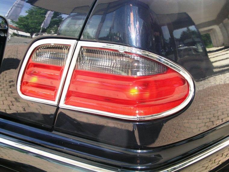 Mercedes w208 clk chrome cadre pour phares arriere ebay for Chrome line exterieur