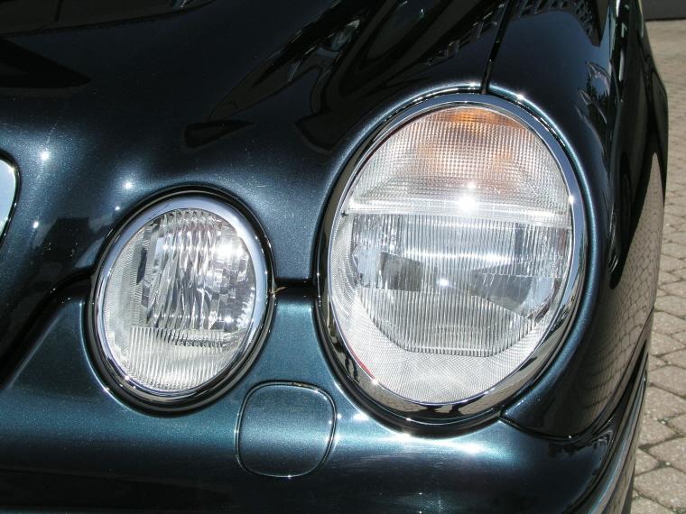 Mercedes w208 clk 208 chrome cadre pour phares ebay for Chrome line exterieur