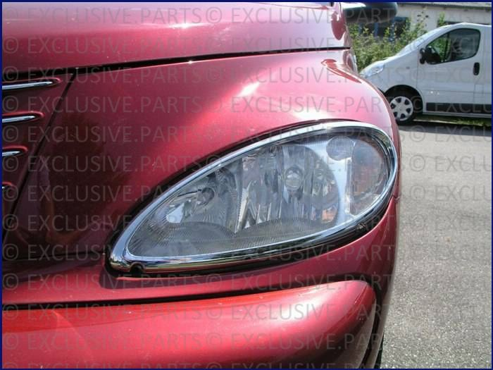 Chrysler pt cruiser cadrage pour phares chromee ebay for Chrome line exterieur