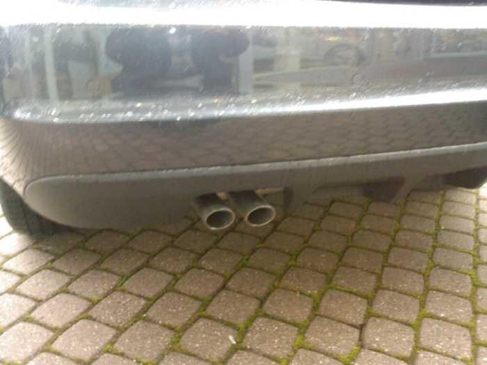 Mercedes w204 204 clase c tubo doble salida de escape - Campana extractora sin tubo ...