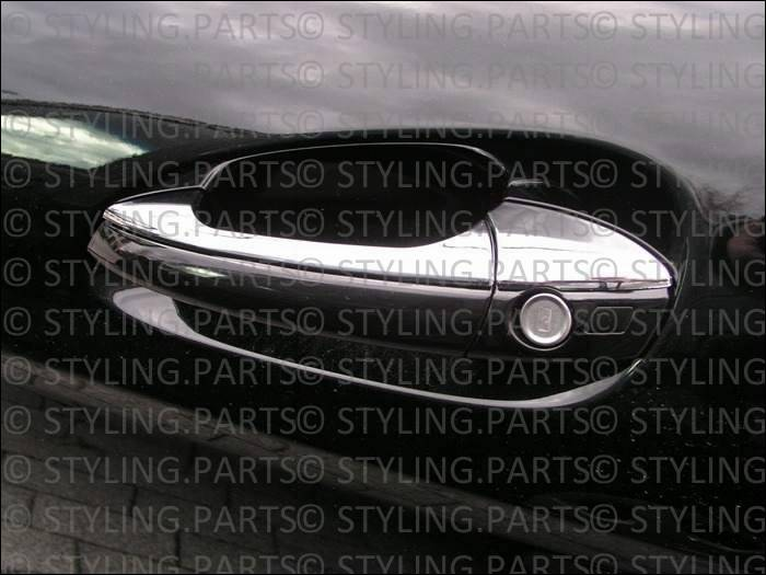 mercedes w204 s204 c klasse t rgriff verkleidung t rgriffauflagen in chrom ebay. Black Bedroom Furniture Sets. Home Design Ideas