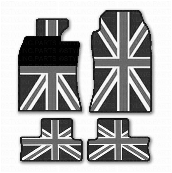 mini one cooper s fussmatten union jack r55 clubman r56 11. Black Bedroom Furniture Sets. Home Design Ideas